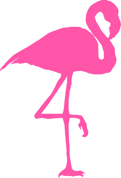 flamingo outline